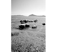 mer du Japon (B&W) view 1 Photographic Print