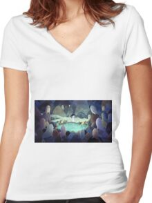 Song of the sea Women's Fitted V-Neck T-Shirt