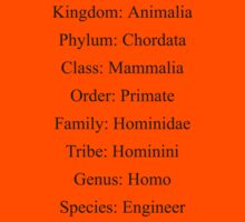 Biological Classification Engineer Kids Clothes