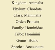 Biological Classification - Accountant by stuwdamdorp