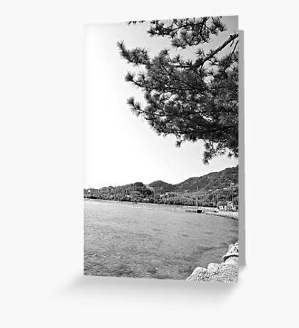 mer du Japon (B&W) view 2 Greeting Card