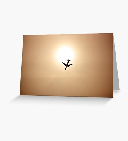 flying to Japan Greeting Card