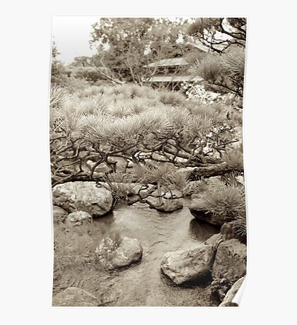 japanese traditional garden view 2 Poster
