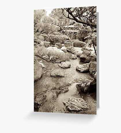 japanese traditional garden view 3 Greeting Card