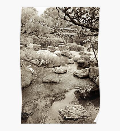 japanese traditional garden view 3 Poster