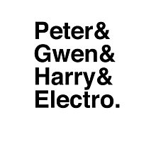 Peter & Gwen & Harry & Electro. Photographic Print