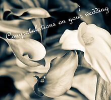 Congratulations on your wedding greeting card by Eti Reid