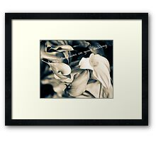 Congratulations on your wedding greeting card Framed Print