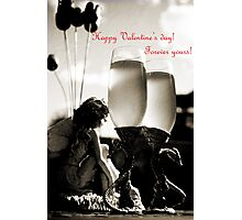 Happy Valentines day greeting card Photographic Print