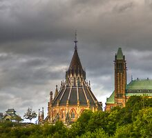 The parliament in Ottawa HDR by Eti Reid