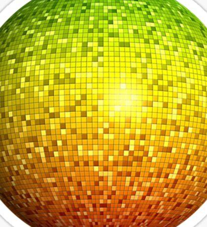 Reggae Disco Ball Sticker