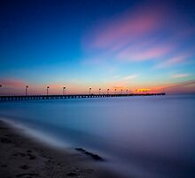 Frankston Pier Sunset Mornington Peninsula Long Exposure 2013 by Ben  Cadwallader