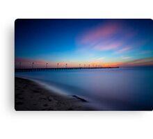 Frankston Pier Sunset Mornington Peninsula Long Exposure 2013 Canvas Print