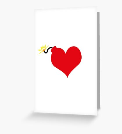 HeartBomb Greeting Card