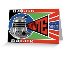 Dalek Deconstructivism Greeting Card