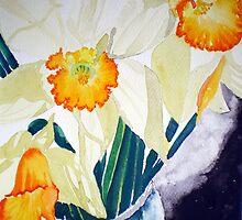 DAFFODILS IN A VASE by jyoti kumar