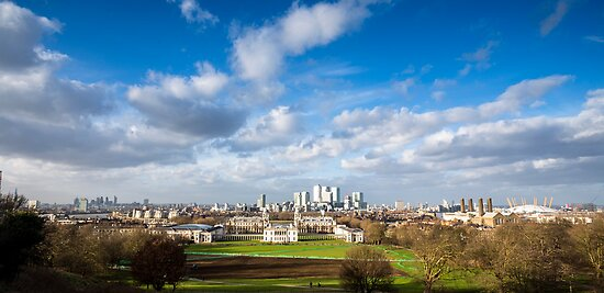 London View from Greenwich Park by Mattia  Bicchi Photography