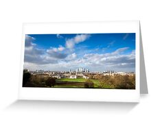 London View from Greenwich Park Greeting Card
