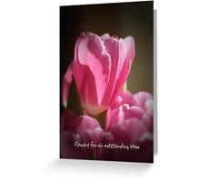 Tulip and text Mother's day work Greeting Card