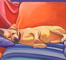 Pleasant Dreams Labrador Retriever at rest... by Nancy Daleo