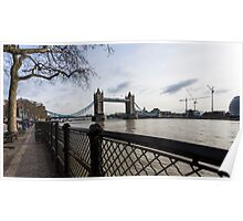 Tower Bridge from River side in the morning Poster