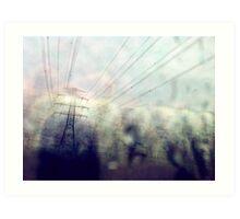 The power of urban rain... Art Print