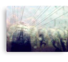 The power of urban rain... Canvas Print