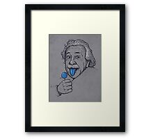 Blue Tongue Framed Print