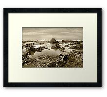 Beware of the Rocks! Framed Print