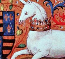 UNICORN WITH RED BLUE FLORAL MOTIFS Sticker