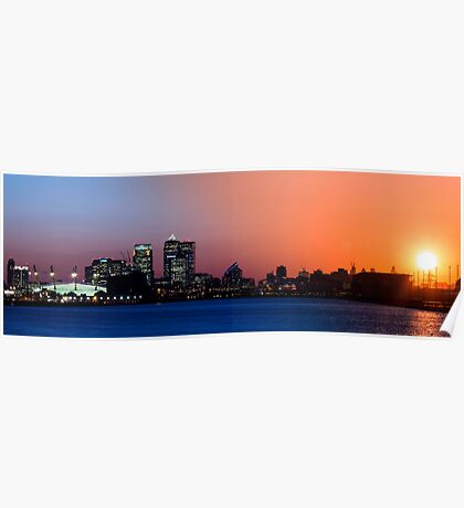 Transition of Canary Wharf Sunset Poster