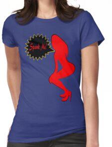 ★ټSpank Me-Naughty Bewitching Woman on Stiletto Heels Clothing & Stickersټ★ Womens Fitted T-Shirt