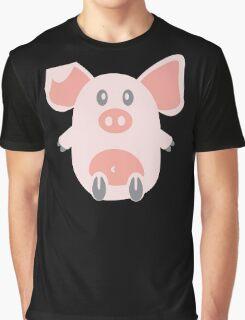 Cute Pig Graphic T-Shirt