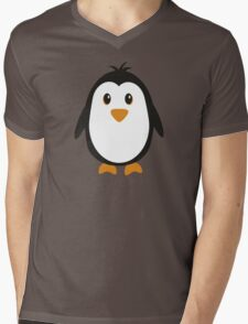Cute Penguin Mens V-Neck T-Shirt