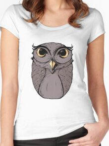 The Owl - Vector Illustration Women's Fitted Scoop T-Shirt