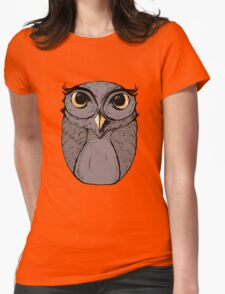 The Owl - Vector Illustration Womens Fitted T-Shirt