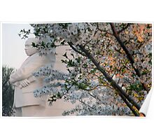 A Cherry Blossomed Martin Luther King Poster