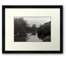 Red Bridge, Campbell Town Tasmania Framed Print