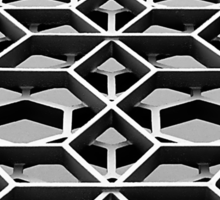 Lattice 1 B&W Sticker