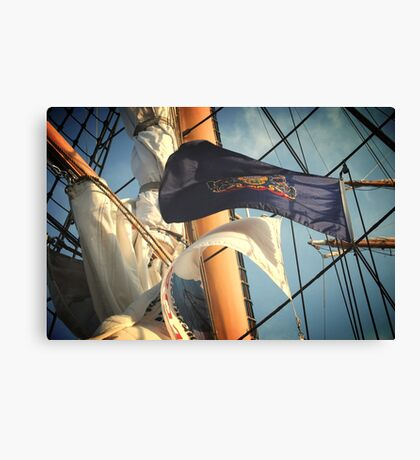 Flags and Mast Canvas Print