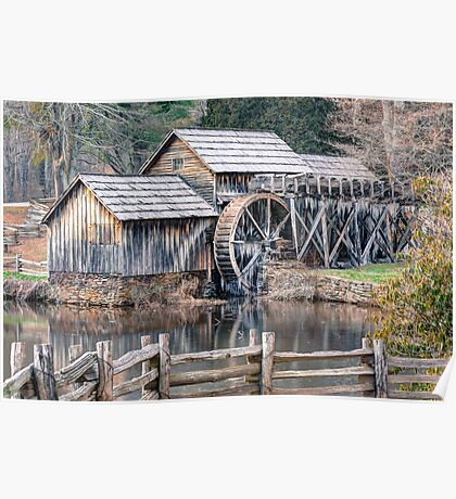 The Mabry Mill, Blue Ridge Parkway - Virginia Poster