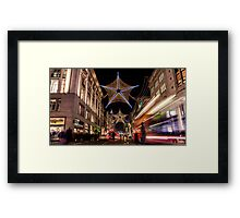 Christmas decoration of Oxford Street Framed Print