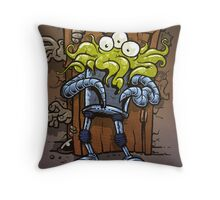 monsters at the door Throw Pillow
