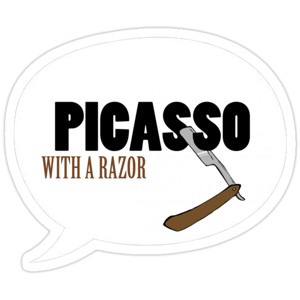 Picasso with a razor by Lydine