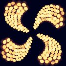 Bokeh Candle Spiral by Victoria Barnet