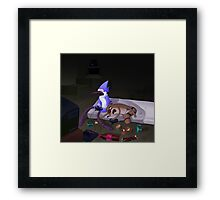 Mordecai and Rigby (Game Never Over) Framed Print