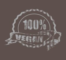 100% Vegan - distressed by veganese