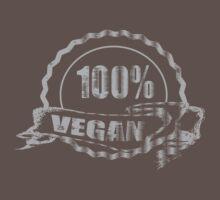 100% Vegan - distressed by veganese