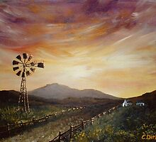 Dusk in the Countryside by Cherie Roe Dirksen