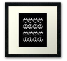 Camera icons white Framed Print